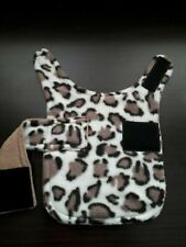 dog coat. fleece jacket .size S. Snow Leopard print design