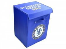 Chelsea Football Club Bedroom Storage / Laundry / Toy Box Blue With Club Crest