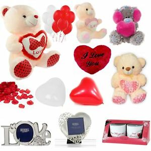 Valentines Day Anniversary Decorations Novelty Gifts Her His LOVE Teddy Bears