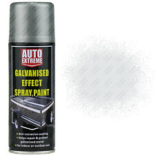 2 x Galvanised Silver Aerosol Spray Cans 200ml Car Auto Extreme Spray Paint