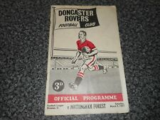 More details for doncaster rovers  v  nottingham forest 1956/7  ~ march 9th   ****free post****