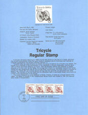 #8527 6c Tricycle Coil Stamp - Scott #2126 USPS Souvenir Page