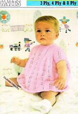 DRESS size 3 months to 2 years / 3,4 or 8ply DK - COPY baby knitting pattern