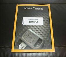 John Deere 240 250 Skid Steer Loader Operators Manual