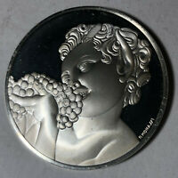 Little Satyr of Bacchus, The Genius of Michelangelo 1.26oz Sterling Silver Medal