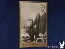 CDV Family Portrait E. Nelin Wasa SWEDEN Mama Papa Baby Flowers Art Pottery Bowl