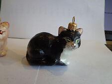 """"""" Katze schwarzweiß liegend """" Glas Christbaumschmuck Christbaumkugel  Geschenk"""