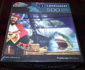 SUPERB GRAFIX PIRATE ADVENTURE 3D LENTICULAR 500 PIECE PUZZLE STILL SEALED