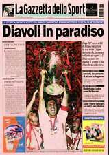 """Ac Milan Cartolina """"La Grande Storia"""" Prima Pagina Gazzetta! Nuovissima 29/05/03"""