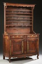French Provincial Louis XV Style Carved Oak Vaisselier, 19th c., with... Lot 238