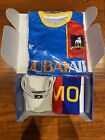 Ted Lasso loot crate IN HAND giveaway small KidRobot Visor Scarf Jersey Sign