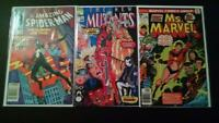 Grab Bag Auction for New Mutants 98 (1st Deadpool), Ms. Marvel 1, Spiderman 252