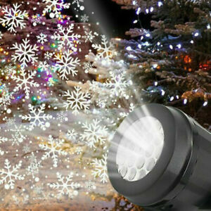 Laser Garden Projection Christmas Stage Outdoor Projector Light LED Snowflake
