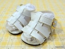 "WHITE Strappy DOLL SANDALS SHOES fits American Girl 14.5"" WELLIE WISHERS DOLL"