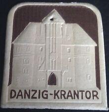 (No1150) German Winterhilfswerk WHW cardboard badge pendant WW2 GATE DANZIG