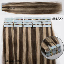 AAAAA Tape In Real Remy Human Hair Extension Thick 60 Pcs 150g Skin Weft US I539