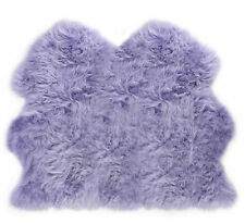 Lambland Super Soft Extra Large Double Genuine Real Lilac Purple Sheepskin Rug