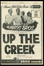 1956 The Matys Bros Brothers photo Up The Creek song release music trade ad