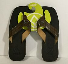 Reef Sandals Women's Size 5 Flip-Flops Brown Faux Leather - New!