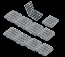 10 x New Hard Plastic  Case Cover Holder AA / AAA Battery Storage Box