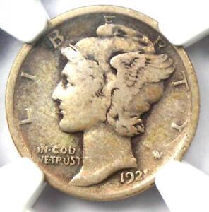 1921 Mercury Dime 10C Coin - Certified NGC F15 - Rare Key Date!