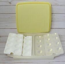 Tupperware Deviled Egg Keeper Yellow 723 Metallic Extra Egg Holders