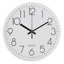 Modern 12 Inch Round Large Wall Clock Silent Quartz Non-ticking Digital Battery