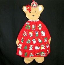 St Nicholas Square Advent Calendar Bear Santa Christmas Countdown Hanging 28x19