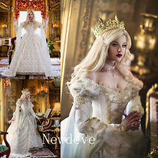 Medieval Wedding Dresses Beads Lace Empire Bridal Gowns Luxury Ball Fluffy Hot