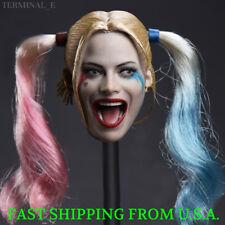 1/6 CUSTOM Harley Quinn Head Sculpt Suicide Squad For PHICEN Female Figure ❶USA❶
