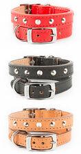 Ancol Heritage Diamond Stud Leather Dog Collars