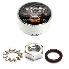 Chrome Billet Aluminum Knurled Horn Cover Nut For Harley - V TWIN FLAME ENGINE