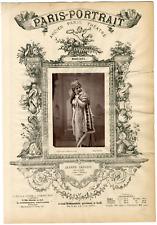 Lemercier, Paris-Portrait, Jeanne Nadaud, actrice Vintage albumen Print Tirage