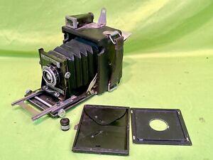 Vintage Graflex Speed Graphic 4x5 Large Format Camera w/ f:6.8/65 Munchen Lens