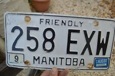Vintage 1997 Manitoba Canadian 258 EXW License Plate Car Truck Buffalo