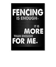 Fencing Is Enough Sticker - Portrait