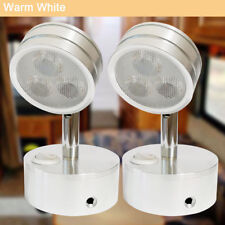 2X Unique Design LED RV Reading Light Fixtures RV Flexible Spotlights Warm White