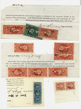 US  Revenue  lot  on piece or document with better like R1e pair  high catalog