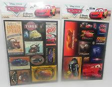 NEW DISNEY PIXAR CARS STICKERS 2 PACKS (4 SHEETS)