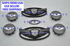 2011-2015 Fits Hyundai Genesis Coupe Gloss Black Wing Emblemsteeringwheel Cap