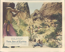 Taza Son Of Cochise original Lobby Card Rock Hudson Indian battle scene