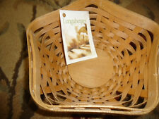 Longaberger 2009 Hostess Appreication Basket - Star Shape Warm Brown Stain - Nwt