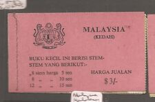 Malaya Kedah $3 Butterfly booklet complete MNH (1asn)