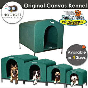 4 SIZE HoundHouse Waterproof Canvas Dog Kennel Green Hound House Portable Travel