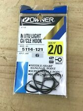 Owner Mutu Light Circle Hook 2/0 5114-121 Qty. 6