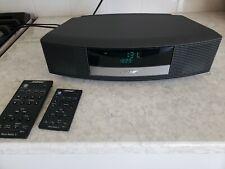 Bose Wave Ii Am Fm Radio Alarm Clock Stereo with 2 Remotes -Graphite Gray