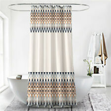 Geometric Stripe Bathroom Shower Curtain Summer Beach Waterproof Curtains ONE