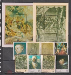 Grenada 1995 art paintings Rubens Durer set+2s/s  MNH