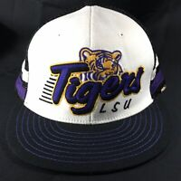 LSU TIGERS EMBROIDERED ADJUSTABLE VENTED SNAPBACK BASEBALL HAT CAP