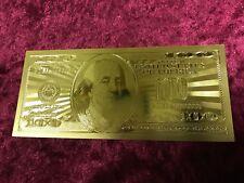 100 Dollari banconota d'oro 24k Carato